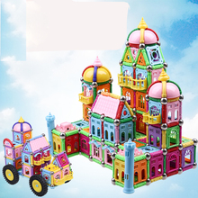 High quality new castle design 268PCS Child Early magnetic stick toy Education block figure Amazing Magnetic set