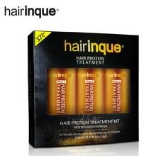 Hairinque 3.7 процентов 24 К терапии золота кератин Лечение Волос Уход за волосами 100 мл X 3 бутылки 30 минут ремонт поврежденных волос(China)