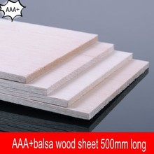 10 pieces/lot AAA+ Balsa Wood Sheet ply 500mmX100mmX1mm super quality for airplane/boat model DIY free shipping