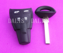 New Replacement case 9-3 Smart Remote Key Case Shell FOB with Blank Blade  for SAAB soft button car key shell