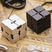 New Fashion Infinity Cube Fidget Cube High Quality Anti Stress Metal Adults Kids Gift EDC for ADHD Funny Finger Toys(China)