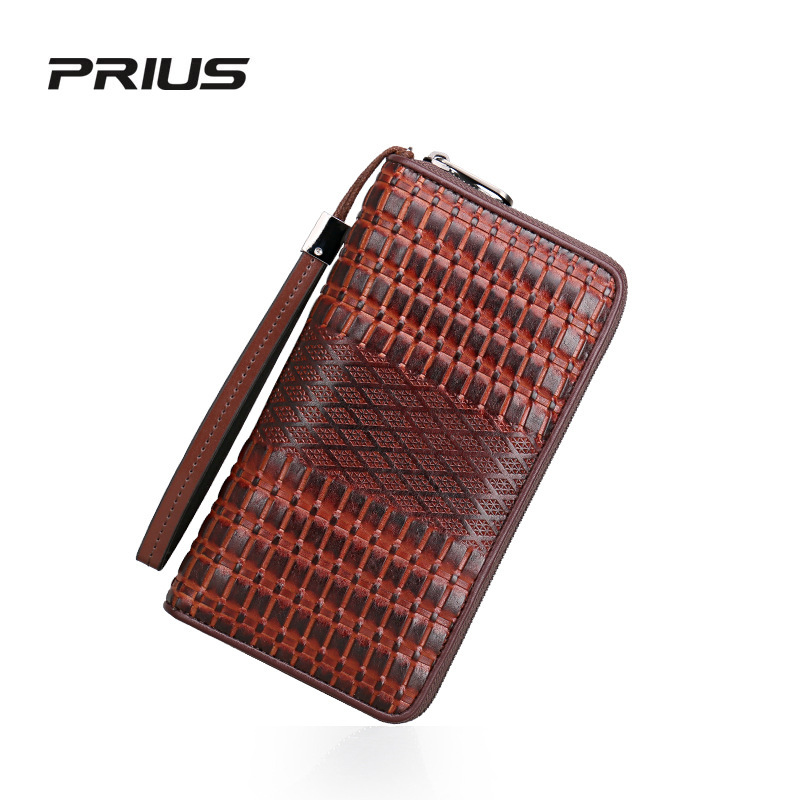 Brand Men Wallets Business Genuine Leather Long Purses British Style Male Card Holder Clutch Wrist Bag<br><br>Aliexpress