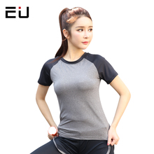 EU 2017 Yoga Top Women Sport Shirt Dry Fit High Quality Women's Fitness Yoga Clothing Sport Jersey Women Fitness Gym Sport Shirt