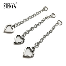 STENYA Component Necklace Ends Metal Chain Tags Extended Extension Chains Tails Charms Pendant Connector Jupm Ring Toggle Clasp(China)