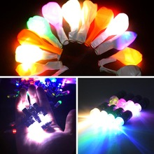 96pcs/lot Long Bright Holiday Lighting 10 Colors Screw thread LED RGB Balloon lights Lantern Decor Batteries Operated EBA001