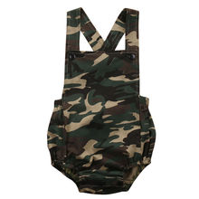 Newborn Infant Baby Romper Camouflage Costume Kids Little Girl Boy Rompers Cotton Suspender Girl Sunsuit Infant Outfits