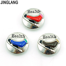 JINGLANG High Quality Fashion Interchangeable Colorful Roller Skate Logo Snap Button for Bracelet/Necklace Accessories
