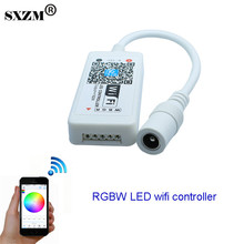 SXZM Wifi LED RGBW Controller DC12V mini controller for 5050 RGBW LED Strip module light free shipping(China)