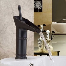 Popular in Russia market Antique bathroom tap Basin Mixer Waterfall Tap Lavatory Faucet ,Oil Rubbed Bronze Finish