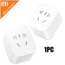 Original Xiaomi Mi Smart Plug WiFi Socket Wireless APP Remote Control Timer Power Plug for TV Lamp Speaker Electrical Appliance(China)