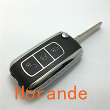 free shipping  New product vw Phaeton 3 buttons remote key cover with key chain