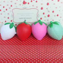 wholesale 60pcs/lot 8cm cute strawberry squishy simulation Fruit kawaii super rising squishies bun handbag keys cell phone charm(China)