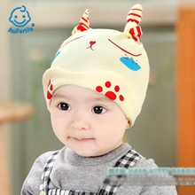 Spring and Autumn New Baby Cap Newborn Sleep Hats Lovely Cartoon Little Footprint Kitty Cute Caps Baby Fashion Hat