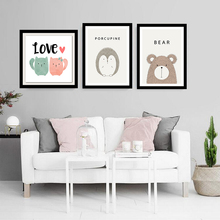 Simple Cute Cartoon Animal Canvas Painting Art Print Poster Picture Wall Modern Home Decor Child Baby Bedroom Decoration