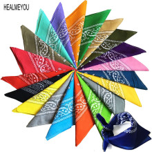 New Unisex Fashion Vintage Style Men Women Paisley Bandana Cotton Head Wrap Neck Scarf Wristband Handkerchief Pocket Towel