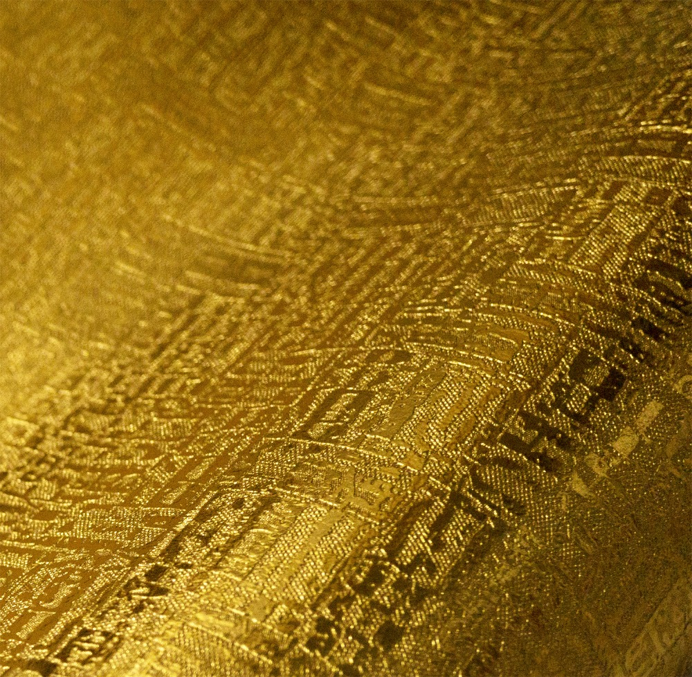 Golden Embossed Wallpaper Roll 10m Decor<br>