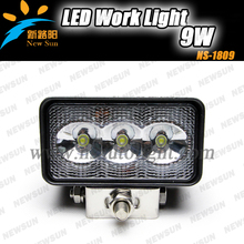 Factory wholesale waterproof IP68 Truck off road industrial vehicles LED driving lights 12V/24V 9W led working light