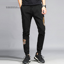 Fashion printing men's sporting pants classic black  big sizes skateboard streetwear brand clothing hipster casual male trousers
