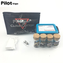 Buy Pilot VAPE Premade Coil Kit + 1 Pack Cloud Cotton Prebuilt Coil Electronic Cigarette Accessories RDA RTA Atomizer DIY vaporizer for $8.76 in AliExpress store