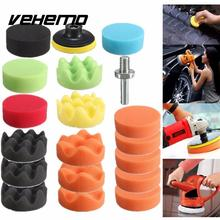 19Pcs 80mm Auto Car Vehicle Polishing Pad Polisher with M10 Drill Adapter Tool(China)