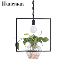 Huiteman Pendant Lights Hanging Gardens Potted Plant Lampshade Lamp Creative Modern Lighting Without Plants And Flowers