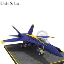 1:48 3D McDonnell Douglas F/A-18 Hornet Fighter Plane Aircraft Paper Model Assemble Denki & Lin Puzzle Game DIY Kids Toy