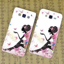 B3766 Tableau Fee Butterfly Girl Transparent PC Hard Case Cover For Samsung Galaxy J 3 5 7 A 3 5 7 8 9 2016 GRAND 2 PRIME(China)