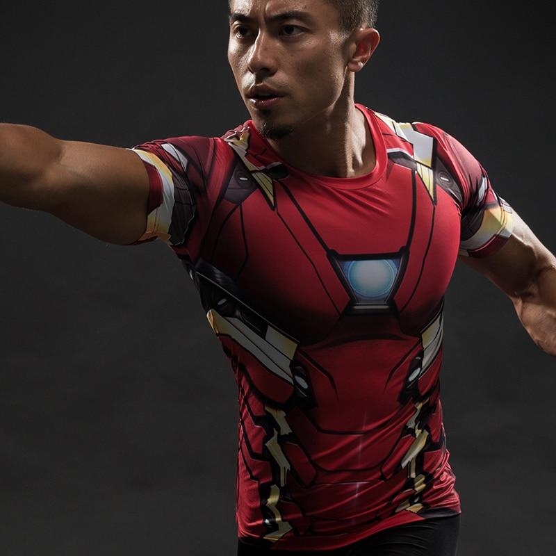 MMA Short Sleeve 3D T Shirt Men T-Shirt Crossfit Tops Punisher Crossfit Funny Superman tshirt Fitness Compression Shirt Tee 4XL 47