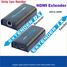 Only 1PC Sender  HDMI Extender Over Ethernet LAN RJ45 CAT5E CAT6 For HD 1080P DVD PS3 up to 120M Free Shipping