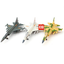 1:55 scale Chengdu FC-1 diecast airplane Thunder JF-17 fighter metal model pull back alloy toys with light and sound collection(China)
