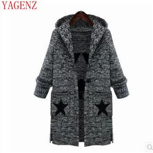 The winter clothes Big yards warm sweater coat the new Europe and the United States women's thick knit hooded jacke KG54 YAGENZ(China)