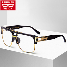 TRIUMPH VISION Black Eyewear Frames Oculos De Grau Myopia Optical Glasses Frame Men Clear Lens 2016 Spectacle Eyeglasses Frame