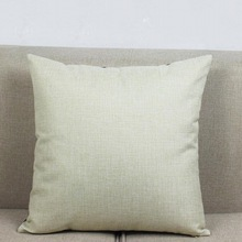 Small Size Cotton Linen Solid Natural Linen Color Sofa Cushion Cover Beige Home Decorative Chair Car Throw Pillow 35x35 40x40cm(China)