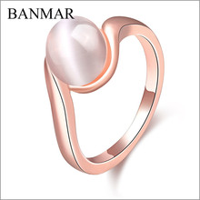 BANMAR High Quality Opal Ring Wedding Rings For Women Fashion Opal Rings For Women Unique Party Jewelry Anillo Bijoux