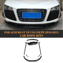 Carbon fiber Auto Body Kits Front Side Rear Lip Spoiler Side Skirts for Audi R8 GT V8 V10 2 Door 2010-2015 Car Tuning Parts(China)