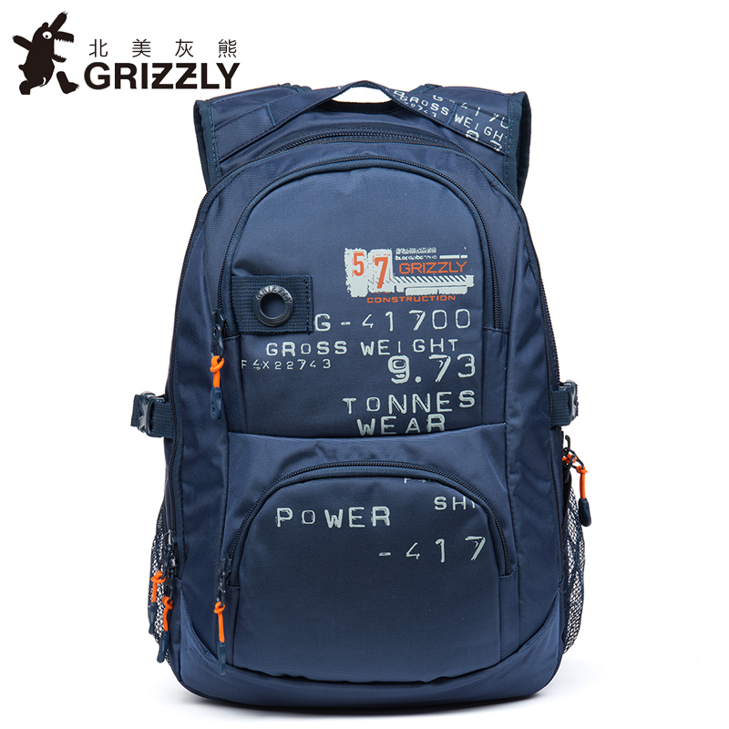 GRIZZLY 2017 Men Canvas Backpacks Large Capacity Mochila for Teenager Boys Multifunction Rucksack SchoolBags Casual Travel Bags<br>
