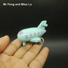 Mini Wooden Airplane Model Educational Aircraft Toy For Kid(China)