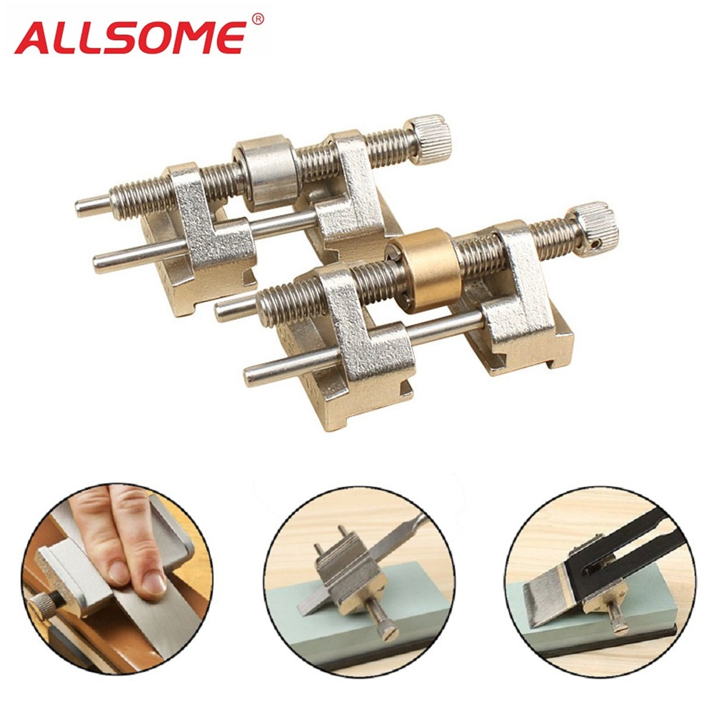 Honing Guide Jig Sharpening Wood Chisel Plane Iron Planers Grinding Tools T9L8