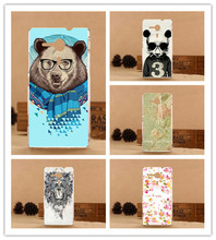 Hot Printed beautiful flowers animals Towers Design Cover For Sony Xperia SP M35h C5302 C5303 C5306 Cover For Sony SP M35h Case(China)