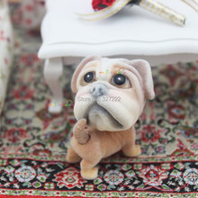 1 12 Scale Dollhouse Miniatures Accessories Mini Dog Puppy French Bulldog Head Tail Dolls Toys