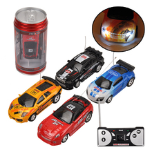 Hot Sale 1/63 Coke Can Mini RC Car Multi-color High Speed Truck Radio Remote Control Micro Racing Vehicle Controle Electric(China)