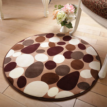 1Pcs European style Round Area Rugs Carpet Super soft Sitting Room The Bedroom Home Carpet Fitness Yoga mat chair cushion(China)