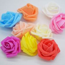 20pcs/lot 4cm Multicolor Artificial Crimping PE Foam Rose Flower Head Multi-Use For Wedding Decor DIY Wreaths Craft Gift Supply