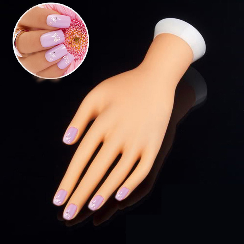Practice Left Hand Model For Nail Art Training And Display Manicure ...