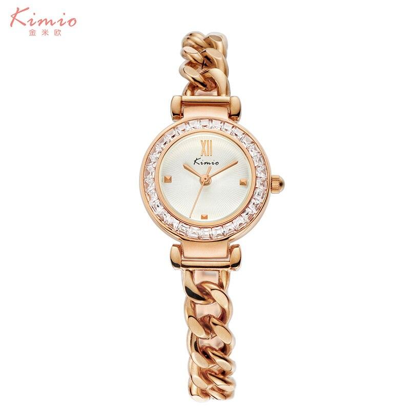 Luxury Rhinestone Bracelet Watch KIMIO Gold Band Women Quartz Watch Round Case Waterproof Wrist Watch Relogio Feminino montre or<br><br>Aliexpress