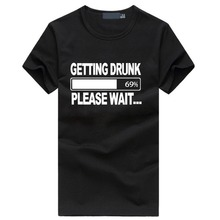 2017 New arrival men's cotton fuuny tops brand clothing for male summer getting Drunk Beer Stag Party Gift Funny Mens T Shirt