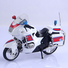 Police Motorcycle Toys DIY Assembly Alloy Police Motorcycle Model Kids Children Boys Playing Toys Vehicles Blue/Red/Yellow