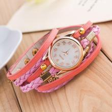 9s & cheap New Fashion Wrap Around Bracelet Synthetic Leather Chain Watch High Quality Watch Ap 7 0717(China)
