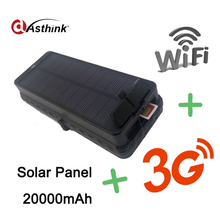 Super Magnetic GPS+GSM+WIFI Solar GPS Tracker 3G WCDMA Vehicle GPS Tracker 20000mAh long standby battery(China)