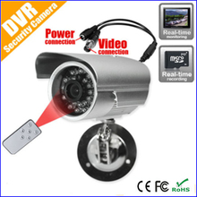 Free Shipping! outdoor audio/video dvr camera micro-sd card loop recording cctv security camera with adaptor and bracket